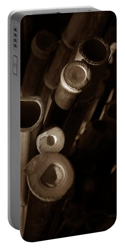 Bamboo Portable Battery Charger featuring the photograph Bamboo Poles 2 by Xueling Zou