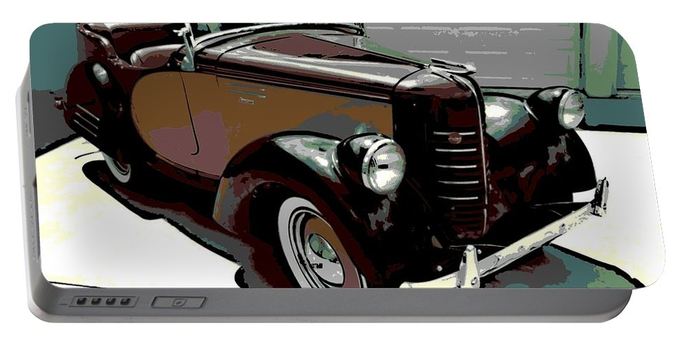 American Portable Battery Charger featuring the photograph Bantam Speedster by George Pedro