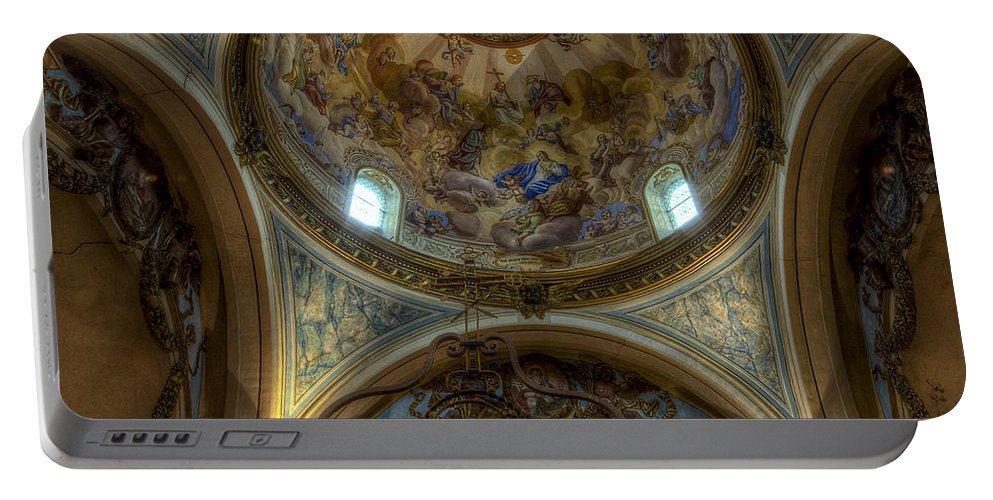 Clare Bambers Portable Battery Charger featuring the photograph Baroque Church In Savoire France 5 by Clare Bambers