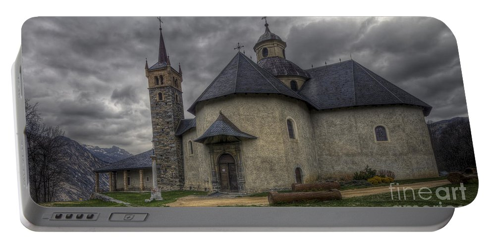Clare Bambers Portable Battery Charger featuring the photograph Baroque Church In Savoire France 6 by Clare Bambers