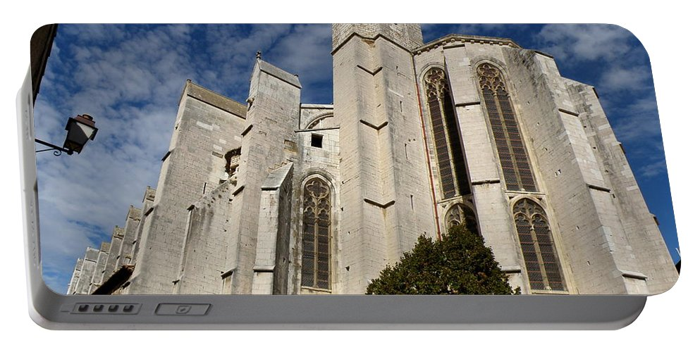 Basilica Portable Battery Charger featuring the photograph Basilica Of Saint Mary Madalene Back View by Lainie Wrightson