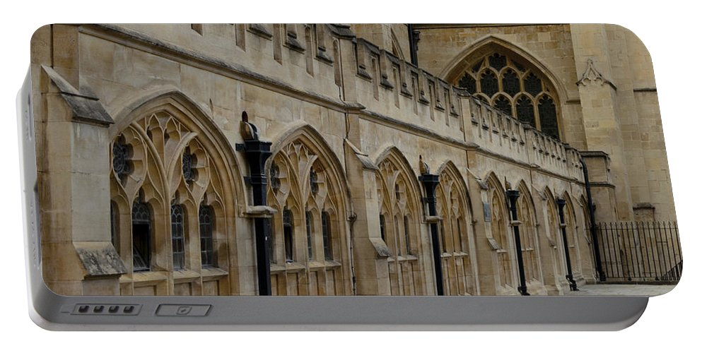 Bath Portable Battery Charger featuring the photograph Bath Abbey by Nick Field