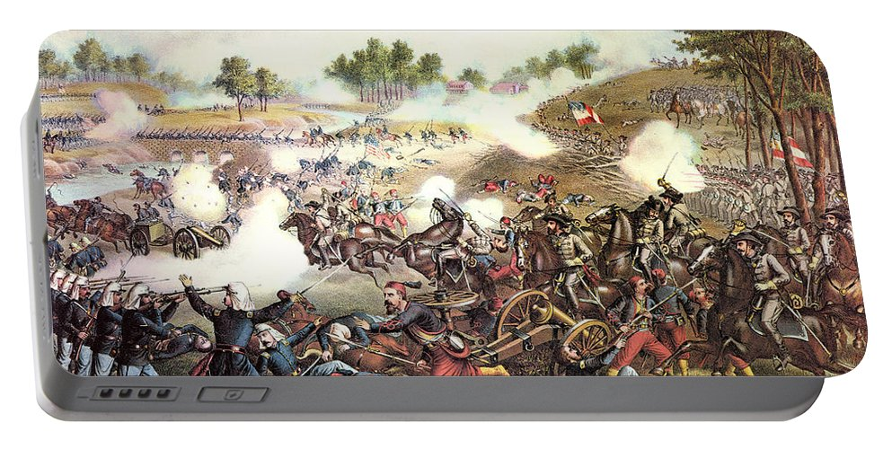 1861 Portable Battery Charger featuring the photograph Battle Of Bull Run, 1861 by Granger
