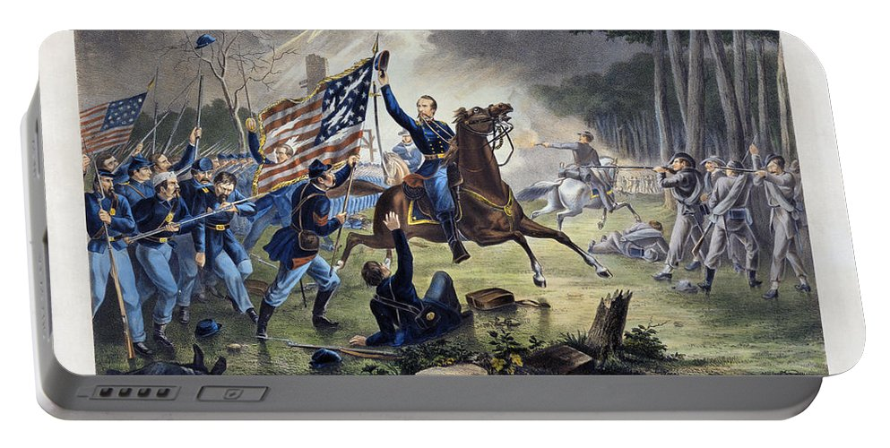 1862 Portable Battery Charger featuring the photograph Battle Of Chantlly, 1862 by Granger