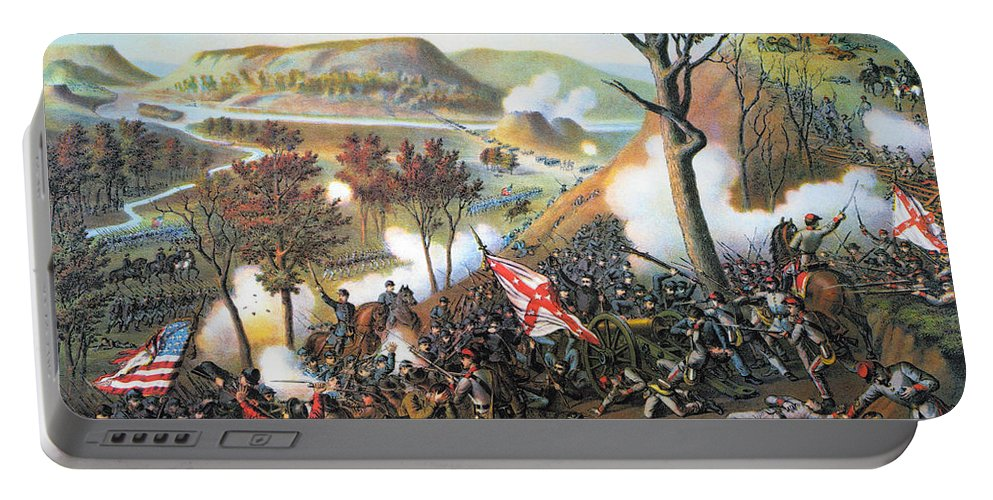 1863 Portable Battery Charger featuring the photograph Battle Of Missionary Ridge by Granger