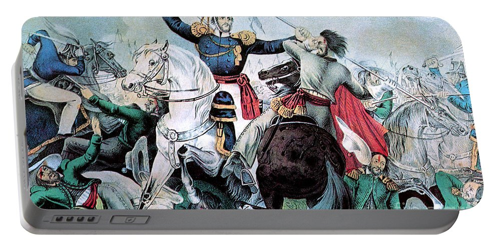 History Portable Battery Charger featuring the photograph Battle Of Veracruz, Mexican-american by Photo Researchers