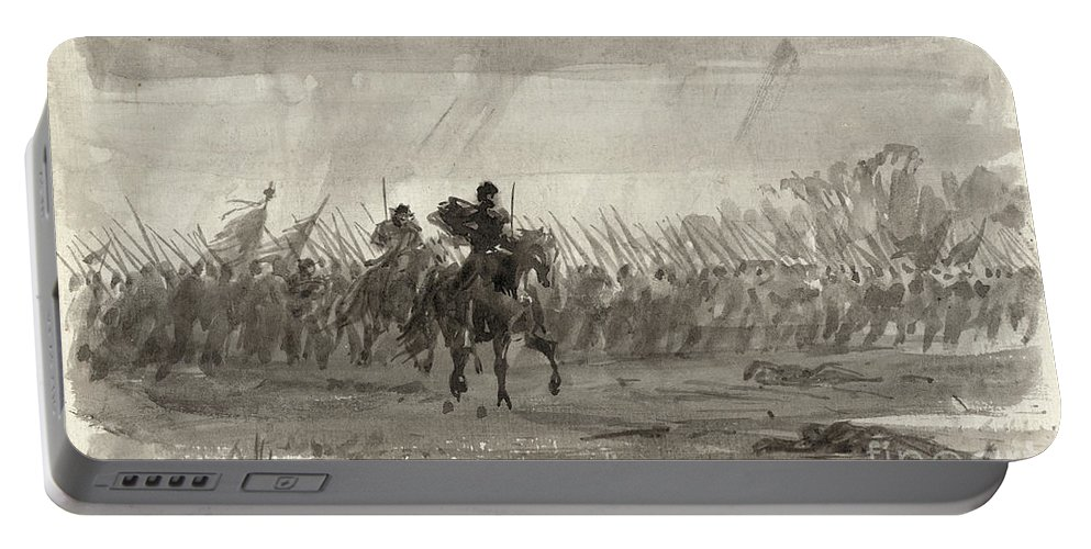 1862 Portable Battery Charger featuring the photograph Battle Of Williamsburg by Granger