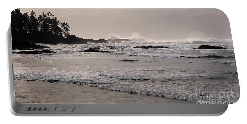 Tofino Portable Battery Charger featuring the photograph Beach At Tofino by Vivian Christopher