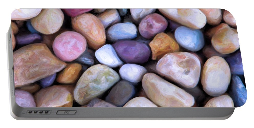 Beach Rocks Portable Battery Charger featuring the painting Beach Rocks 2 by Dominic Piperata