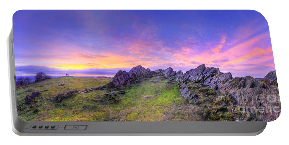 Art Portable Battery Charger featuring the photograph Beacon Hill Sunrise 3.0 Pano by Yhun Suarez