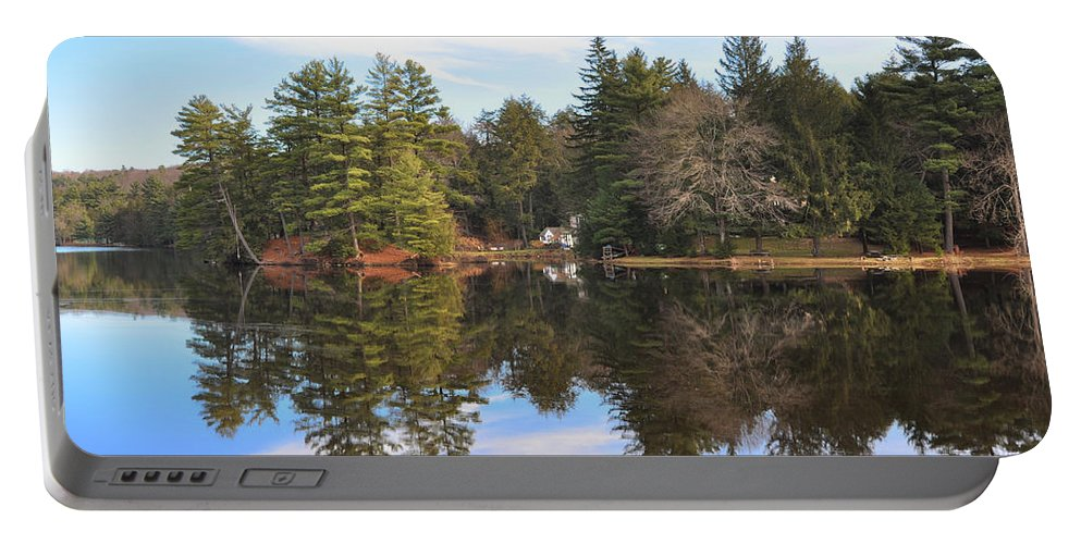 Bear Portable Battery Charger featuring the photograph Bear Creek Lake by Bill Cannon