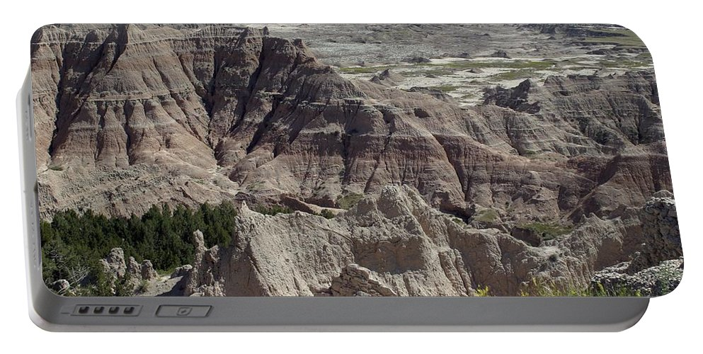 Badlands Portable Battery Charger featuring the photograph Beautiful Badlands by Living Color Photography Lorraine Lynch