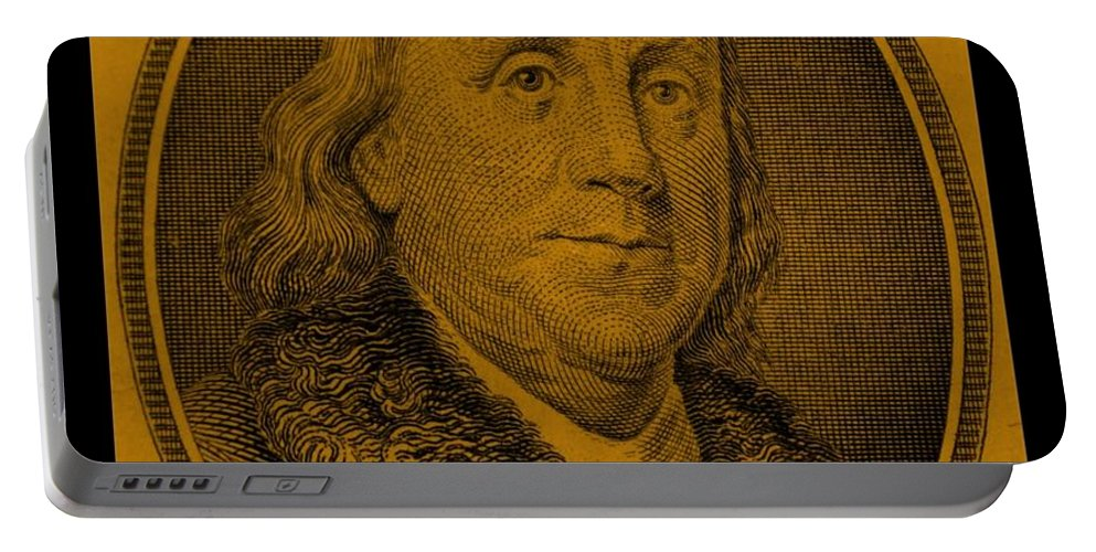 Ben Franklin Portable Battery Charger featuring the photograph Ben Franklin In Orange by Rob Hans