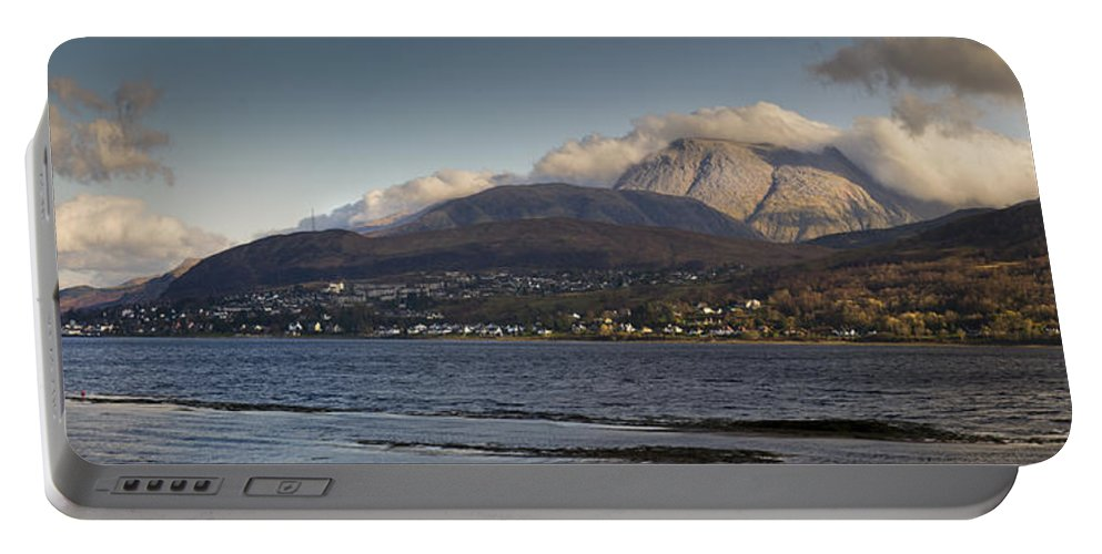 Ben Portable Battery Charger featuring the photograph Ben Nevis And Loch Linnhe Panorama by Gary Eason
