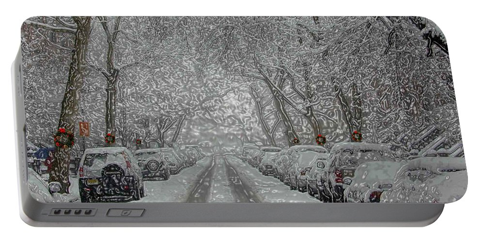 Snow Portable Battery Charger featuring the photograph Berkeley Place by Mark Gilman