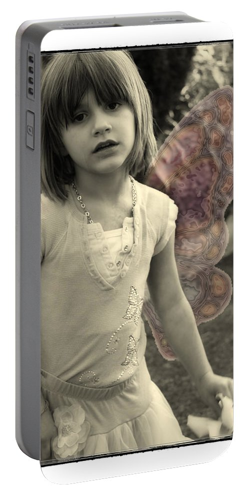 Fairy Portable Battery Charger featuring the photograph Between Worlds by Diana Haronis