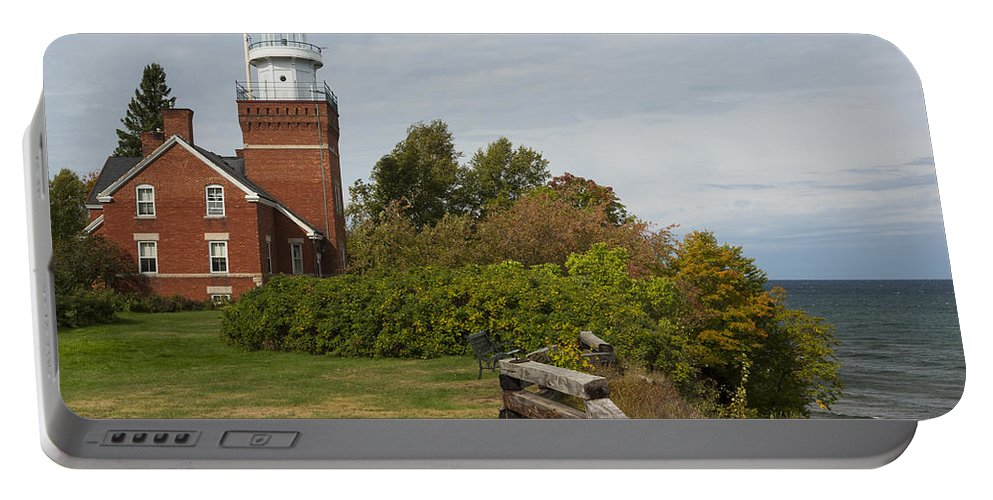 Big Portable Battery Charger featuring the photograph Big Bay Point Lighthouse 1 by John Brueske