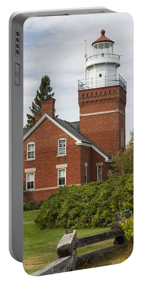 Big Portable Battery Charger featuring the photograph Big Bay Point Lighthouse 4 by John Brueske