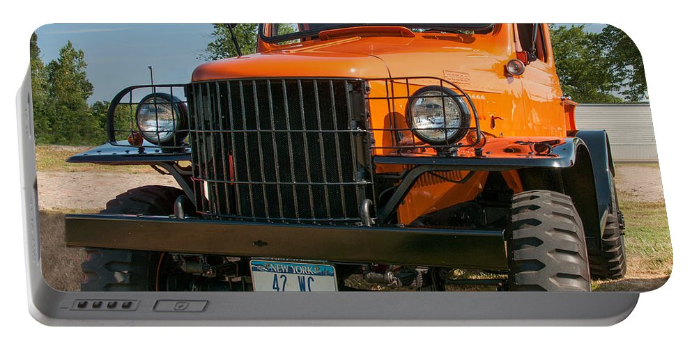 1942 Dodge Pickup Portable Battery Charger featuring the photograph Big Guy by Guy Whiteley