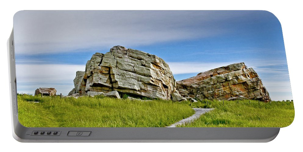 Big Rock Portable Battery Charger featuring the photograph Big Rock by Roderick Bley