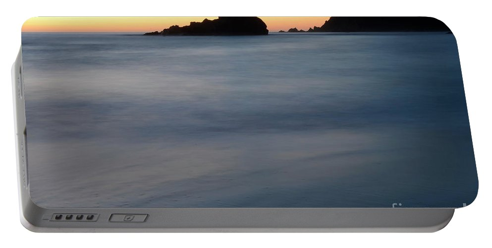 Pfeiffer Rock Portable Battery Charger featuring the photograph Big Sur Silk by Bob Christopher