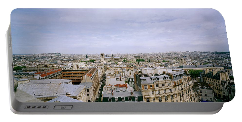 Paris Portable Battery Charger featuring the photograph Panoramic Paris by Shaun Higson