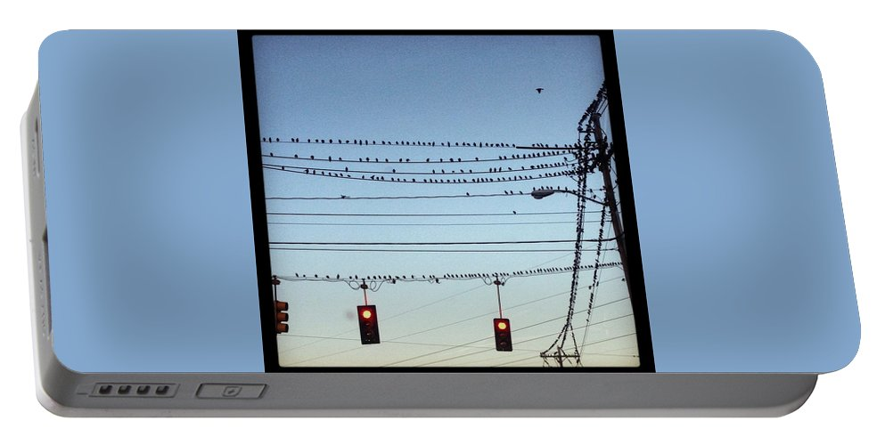 Portable Battery Charger featuring the photograph Birds Stop by Mark Valentine