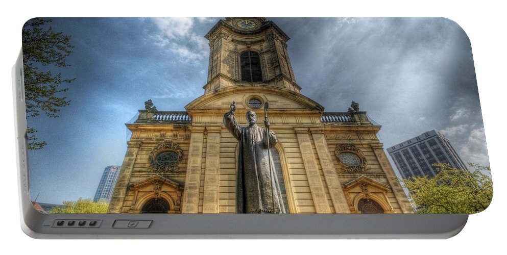 Church Portable Battery Charger featuring the photograph Birmingham Cathedral 1.0 by Yhun Suarez