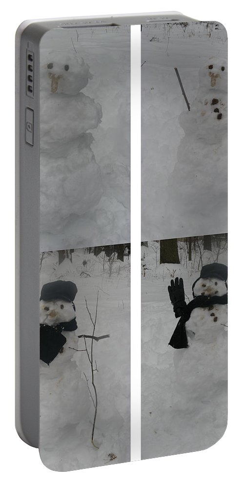 Snow Portable Battery Charger featuring the photograph Birth Of A Snowman by Richard Bryce and Family