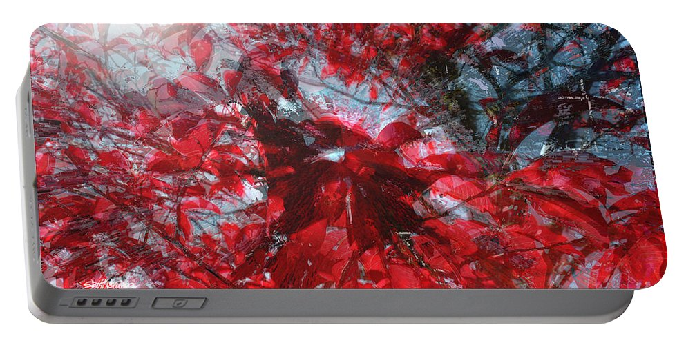 Black And Red Crescendo Portable Battery Charger featuring the photograph Black and Red Crescendo by Seth Weaver