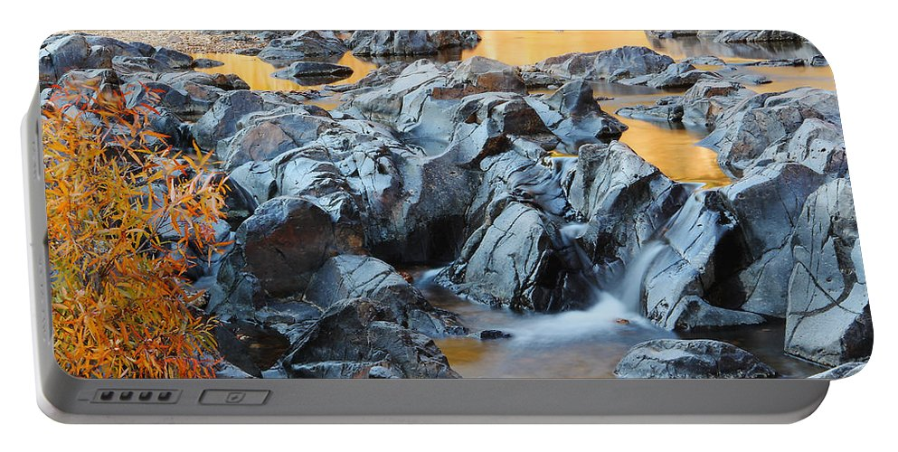 Black River Portable Battery Charger featuring the photograph Black River Reflections At Johnsons Shut Ins State Park Vi by Greg Matchick