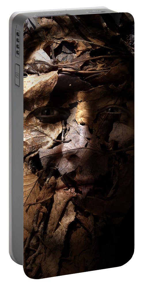 Blend Portable Battery Charger featuring the painting Blending In by Christopher Gaston