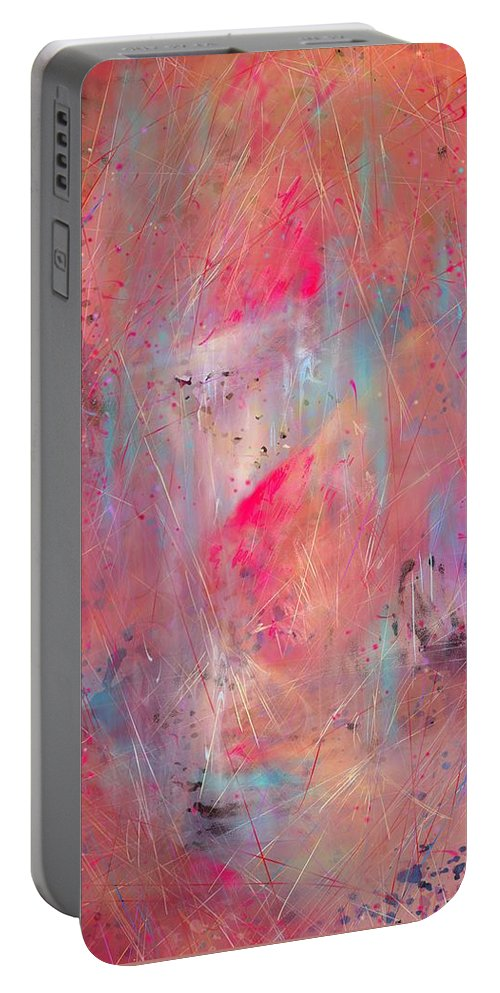 Lamb Of God Portable Battery Charger featuring the digital art Blood Of The Lamb by Rachel Christine Nowicki