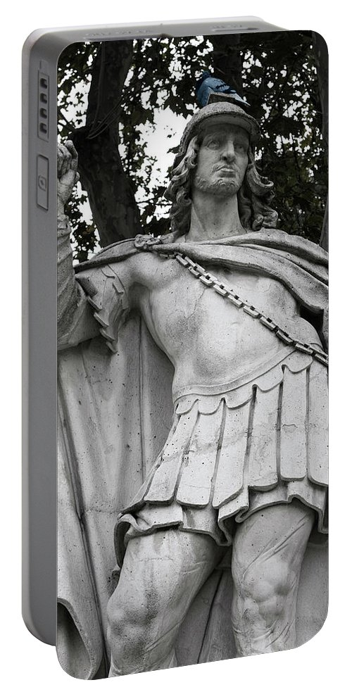Madrid Portable Battery Charger featuring the photograph Blue Bird Atop by Lorraine Devon Wilke