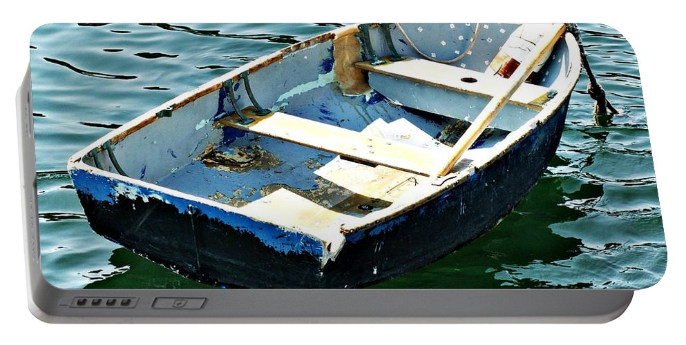 Rowboat Portable Battery Charger featuring the photograph Blue Dory by Joe Faherty