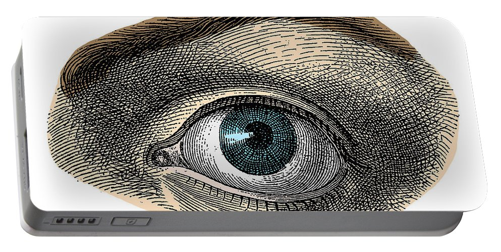 Eye Portable Battery Charger featuring the photograph Blue Eye by Science Source