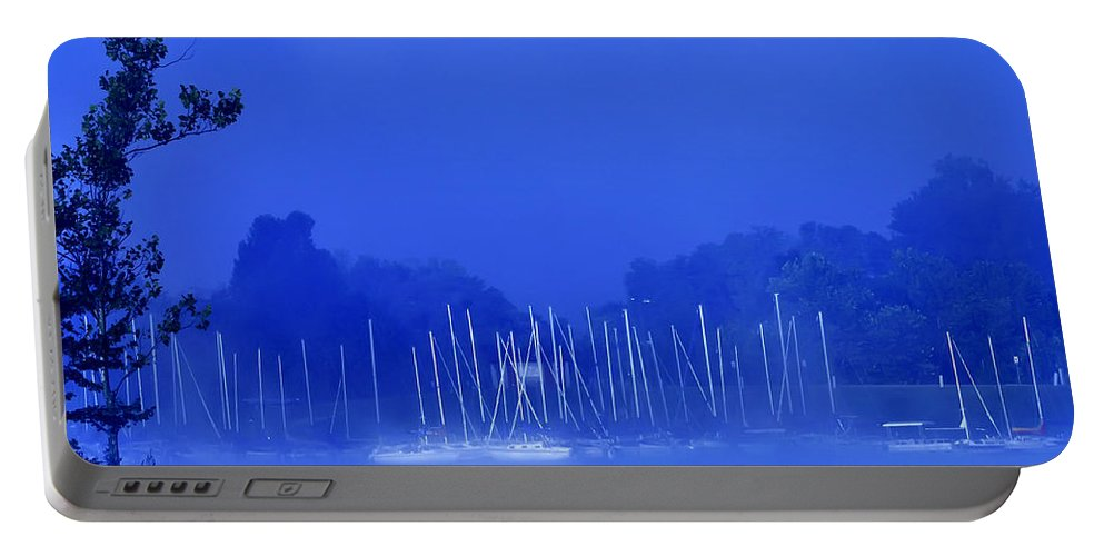 Blue Portable Battery Charger featuring the photograph Blue Mondays by Randall Branham