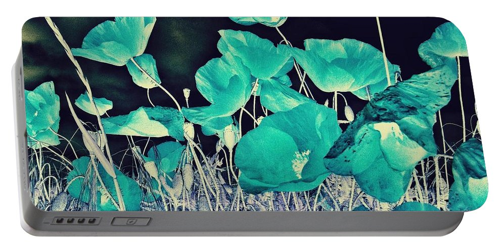 Poppies Portable Battery Charger featuring the photograph Blue Vision by Marianna Mills