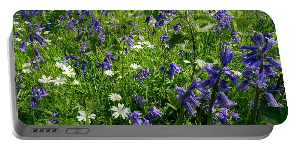 Bluebells Portable Battery Charger featuring the photograph Bluebell Woods by Gary Eason