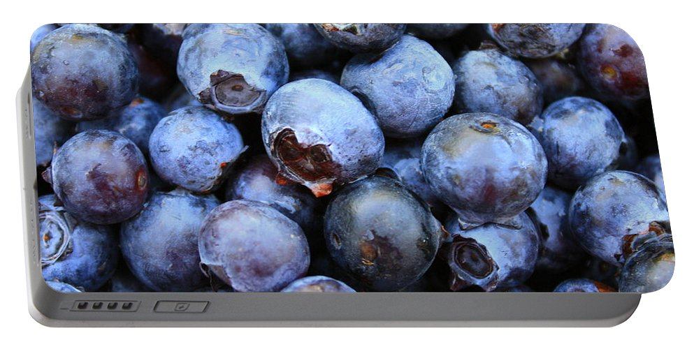 Food Portable Battery Charger featuring the photograph Blueberries by Carol Groenen