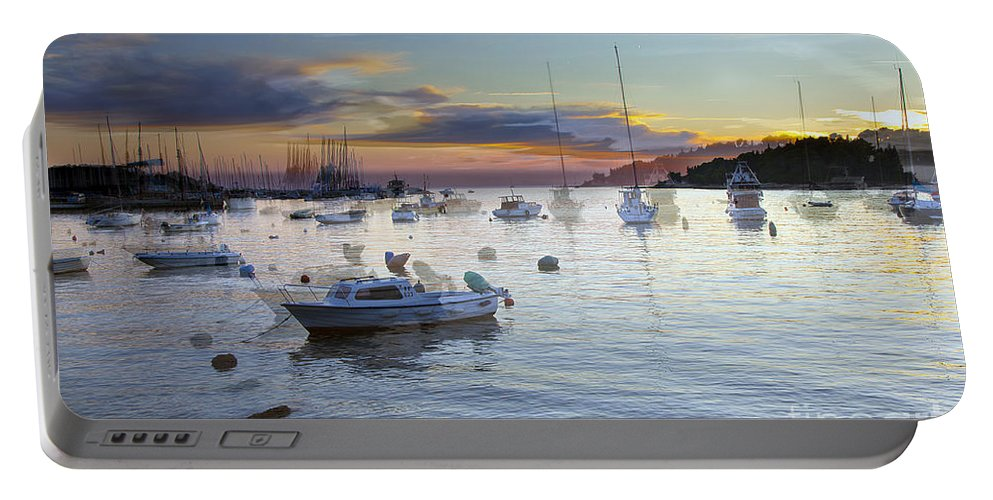 Boats Portable Battery Charger featuring the photograph Boats On The Water by Madeline Ellis