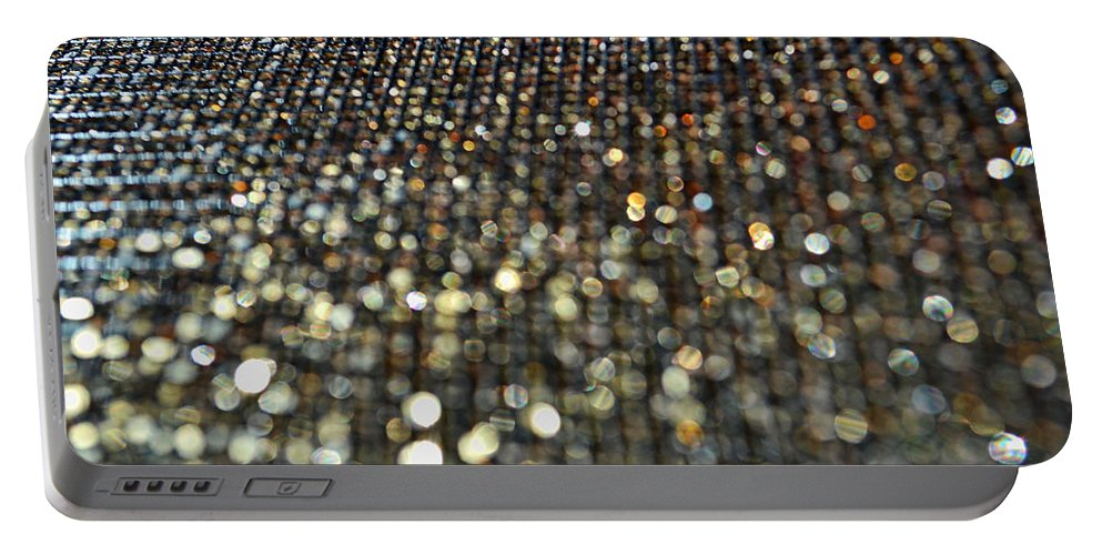 Bokeh Portable Battery Charger featuring the photograph Bokeh Bling by Debbie Portwood
