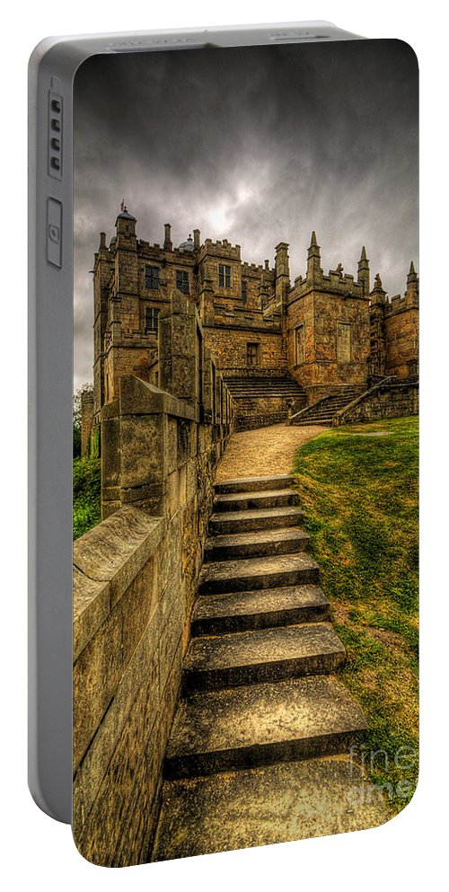 Art Portable Battery Charger featuring the photograph Bolsover Castle by Yhun Suarez