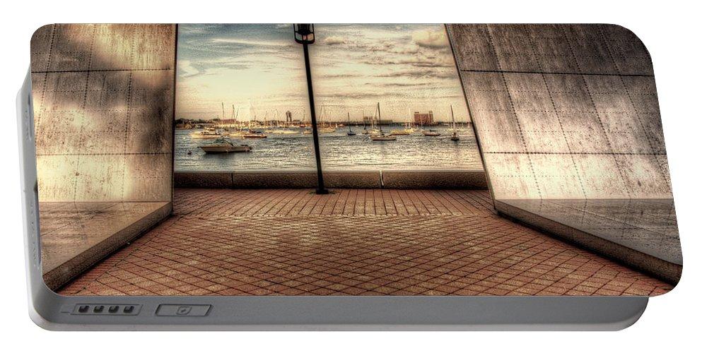 Boston Portable Battery Charger featuring the photograph Boston - David Von Schlegell - Untiltled by Mark Valentine