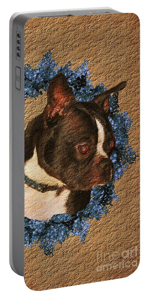 Boston Terrier Portable Battery Charger featuring the photograph Boston Terrier Love by Smilin Eyes Treasures