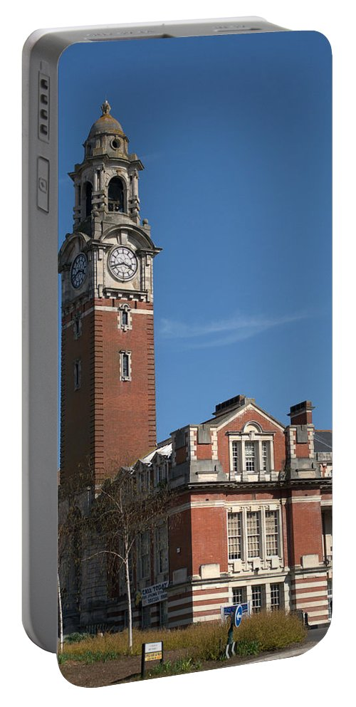 College Portable Battery Charger featuring the photograph Bournemouth College by Chris Day