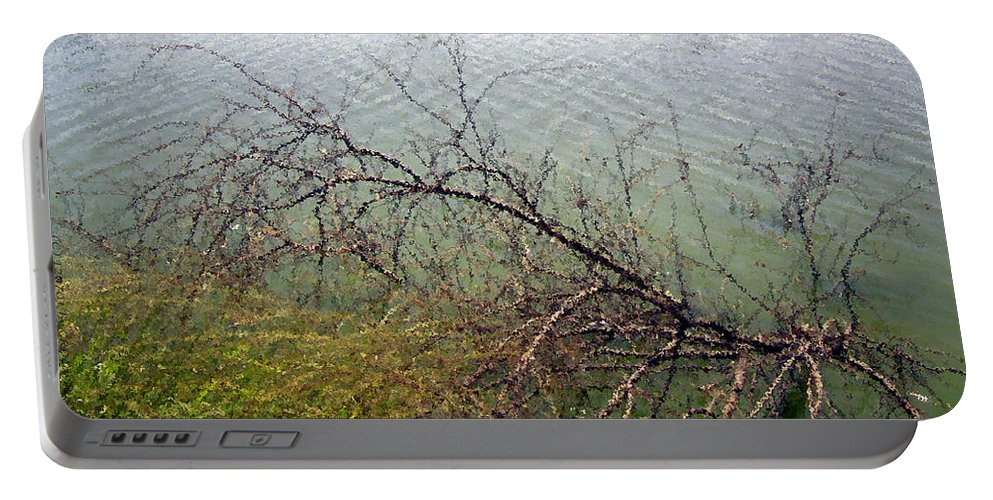 Original Portable Battery Charger featuring the photograph Branchs Over The Waters Edge 2001 by Carl Deaville