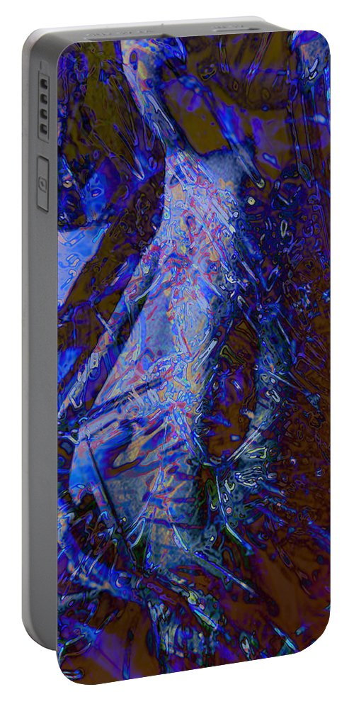 Glass Portable Battery Charger featuring the painting Break Out by Thomas Oliver