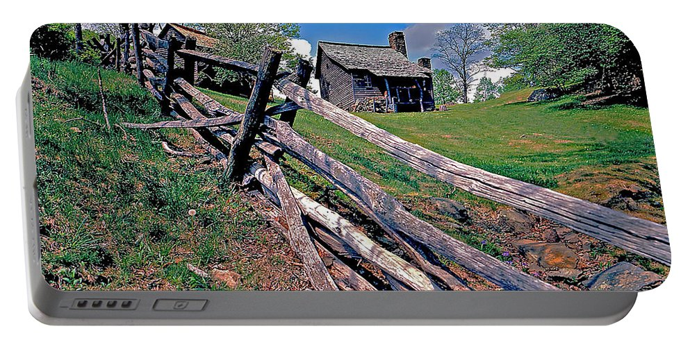 North Carolina Portable Battery Charger featuring the photograph Breiniger Cabin by Rich Walter