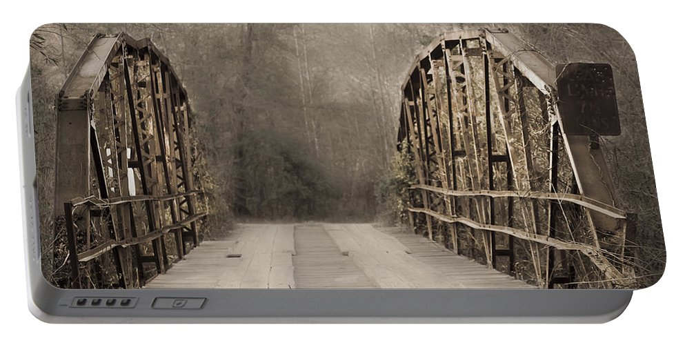 Portable Battery Charger featuring the photograph Bridge After Lightroom by Kim Henderson